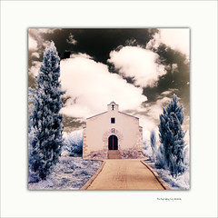 (1746) Ermita del Roser (IR World) (QuimG) Tags: paisajes church geotagged ir landscapes infrared retouch gettyimages paisatges valncia maig retoque pasvalenci irphotography albaida retoc specialtouch fotografainfrarroja quimg irworld infraroig poblesdevalncia ermitadelroser quimgranell joaquimgranell afcastell obresdart gettyimagesiberiaq2 olympusir laljorf