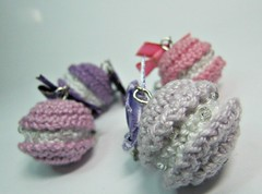 Amigurumi Earrings - French Macarons in Shades of Violet and Pink - Handmade Miniature Crochet Jewelry Dangle Earrings (Ellyne (*)) Tags: miniature handmade violet earrings amigurumi dangle macaron handmadejewelry handmadeearrings crochetjewelry crochetearrings shadesofviolet amigurumijewelry macaronearrings miniatureearrings picmonkey:app=editor amigurumiearrings