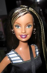 Instant Message Girl Barbie Brunette (farmspeedracer) Tags: woman girl handy toy doll phone barbie cell cellular braids brunette sms playline