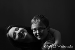 Poppy&Jack_2_B&W (PFS_Photo) Tags: blackwhite brotherandsister singlelight blackwhiteportrait pfsphotography
