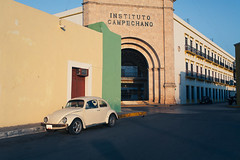 institutionalised (blackeyeliner) Tags: school car architecture mexico institute northamerica canonef35mmf2 convent campeche jesuits canoneos5d primelens vwbeatle campechestate
