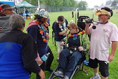 """Team Becky"" will be back next year (PowellRiverMobilityOpportunitiesSociety) Tags: family friends nature sunshine river coast back teams walks country trails together powell society mobility opportunities disability accessibility friendships trailrider"