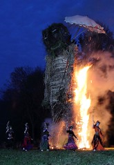 The Wickerman is lit! (Fenifur) Tags: man fire mayday wicker beltane beltain beltaine wickerman butser