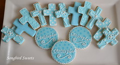 Crosses & Personalized Cookies for a 1st Communion (Songbird Sweets) Tags: cookies crosses 1stcommunion songbirdsweets