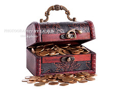 Treasure Chest (larus photography) Tags: wood old money coin open box antique rusty whitebackground trunk savings padlock isolated oldfashioned finance jewelrybox treasurechest householdobjects woodenbox groupofobjects retrorevival storagecompartment
