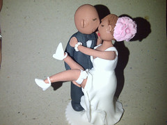 Wedding cake topper (Cakes so cool) Tags: weddingcake caketopper fondant gumpaste weddingcakebridalcaketopper