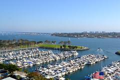 SAN DIEGO, CALIFORNIA** (gobucks2) Tags: california docks boats sandiego bridges flags americanflags hotels resorts coronadobridge marinas sandiegobay sandiegocalifornia 2013 april2013 may2013 marriottmarquismarina spring2013