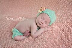 Baby Brooke (njmommyof3boys) Tags: flowers baby girl hat knickers peach blanket newborn bonnet