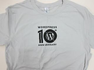WordPress 10th Anniversary T-Shirt