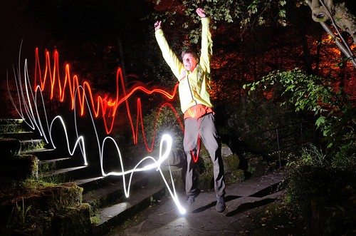 Light painting jump