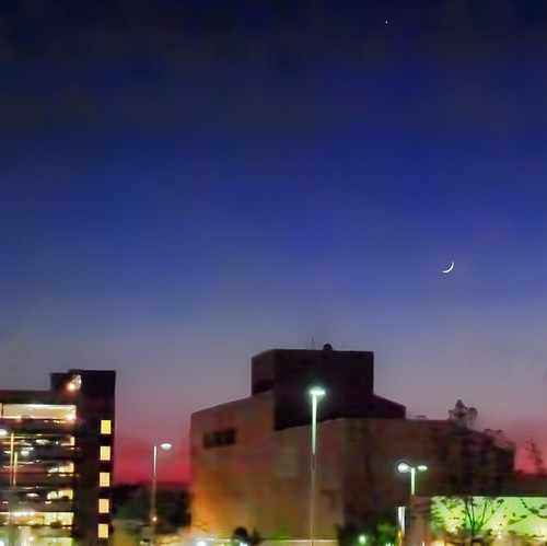 Moon, Venus, Parking