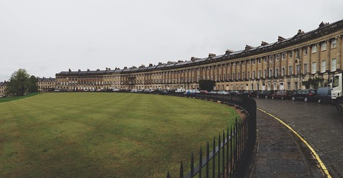 Bath Crescent Panorama - Wet May Day