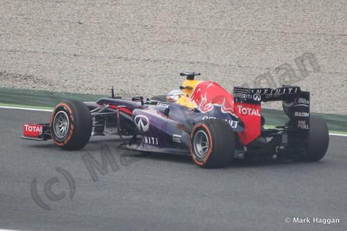 Sebastian Vettel in Free Practice 1 at the 2013 Spanish Grand Prix
