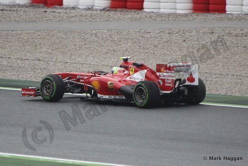 Felipe Massa in his Ferrari in Free Practice 1 at the 2013 Spanish Grand Prix