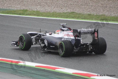 Pastor Maldonado in Free Practice 1 at the 2013 Spanish Grand Prix
