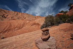 Upper Muley Twist Trail (Kim Tashjian) Tags: utah nationalpark rocks capitolreef cairn