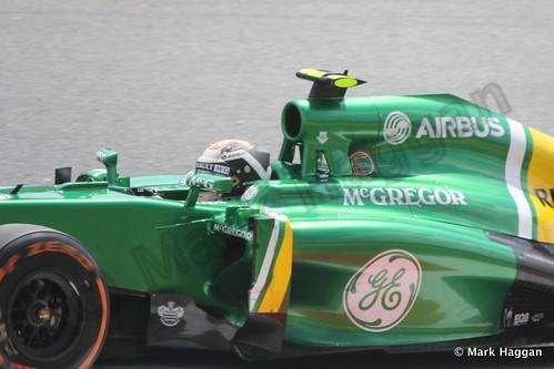 Giedo van der Garde in Free Practice 3 for the 2013 Spanish Grand Prix