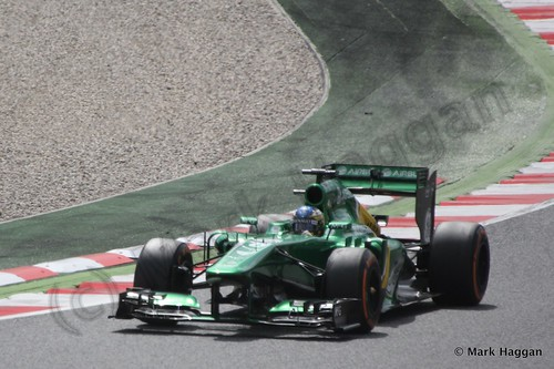 Charles Pic in Free Practice 3 for the 2013 Spanish Grand Prix