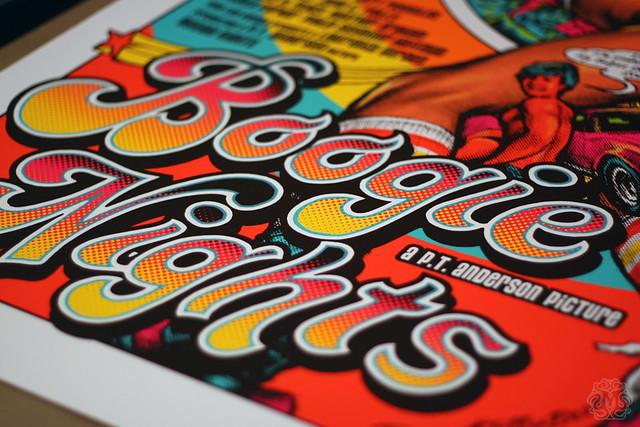 Mondo - 不羈夜 / BOOGIE NIGHTS 絹印海報by Rockin'Jelly Bean