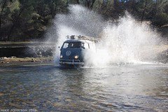 Commitment (zombikombi1959) Tags: california bus northerncalifornia vw creek river drycreek wake crossing offroad splash camper sst 2013 offthebeatentrack shastasnowtrip