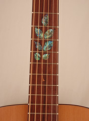 Walnut branch abalone inlay (JBH woodworking) Tags: red guitar walnut cedar custom abalone luthier inlay