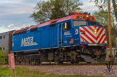 Metra parking for the night (photo-engraver1) Tags: railroad wisconsin train locomotive metra kenosha 140 f40ph3