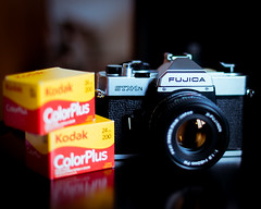 My new toy Fujica STX-1N (Tommy Blake Photography) Tags: slr japan 35mm fuji kodak fujica fujinon realcamera 2470 colorplus 50mmf19 d700 stx1n 50mm14g