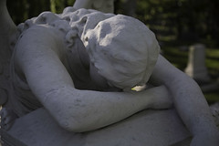 Angel of Grief - Hill Family (Mike Schaffner) Tags: angel monument statue grief grieving sorrow weeping cemetery grave graveyard angelofgrief tx texas houston glenwood hill