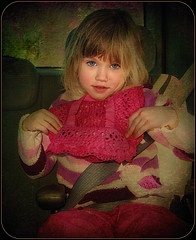 Little Girl in Car (jta1950) Tags: family people cute texture girl car kids children person kid child adorable carseat frame enfant 4yearold younggirl f31d finepixf31d crisbuscaglialenz