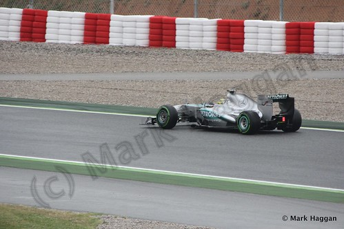 Nico Rosberg in his Mercedes in Free Practice 1 at the 2013 Spanish Grand Prix