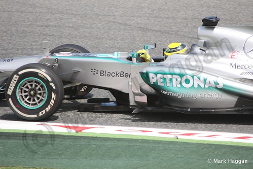Nico Rosberg in Free Practice 2 at the 2013 Spanish Grand Prix
