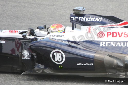 Pastor Maldonado in Free Practice 2 at the 2013 Spanish Grand Prix