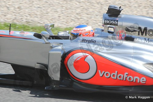 Jenson Button in Free Practice 2 at the 2013 Spanish Grand Prix