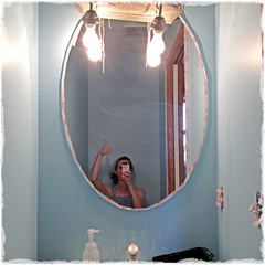 Druing The Facelift (KateWares) Tags: bathroom paint redo facelift wainscoting katewares hawaiithemed