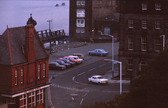 New Quay from Waldo Street 1977 (robert.learmouth) Tags: docks pub newquay goldenfleece northshields waldostreet