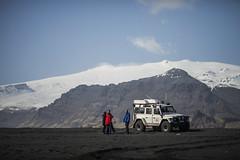 Beach - Skógar, Iceland (DavidIanJohnson) Tags: road travel people mountain beach landscape volcano reykjavic iceland sand scenery jeep offroad 4x4 reykjavik vehicle ash skógafoss skógar