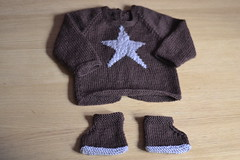 Ensemble toil (Alfil) Tags: baby tricot knit bb toile