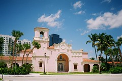 Seaboard Air Line Train Station West Palm Beach (Phillip Pessar) Tags: railroad west film beach station analog train 35mm freedom fuji minolta air rail places palm historic line national 200 register dual cvs c41 seaboard