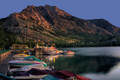 A new start (JoLoLog) Tags: lake canada mountains marina sunrise boats alberta rockymountains hdr peacepark lorien canadianrockies watertonlakesnationalpark upperwatertonlake watertonvillage canonxsi
