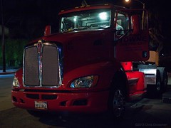 Red 2009 T440 Kenworth Truck - Olympus E-520 - Leica D. Summilux 25mm f/1.4 Asph. (divewizard) Tags: california leica red tractor reflection wheel night truck reflections dark us unitedstates d availablelight f14 olympus grill nighttime chrome american relflection existinglight dslr summilux 2009 asph 43 25mm culvercity kenworth wideopen losangelescounty fourthirds e520 leicadsummilux25mmf14asph olympuse520 towneairfreight t440 leicadsummiluxasph25mmf14 9e11866
