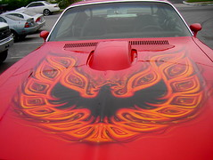 1973 Pontiac Trans Am (splattergraphics) Tags: firebird pontiac 1973 transam airbrush customcar custompaint screamingeagle glenburniemd