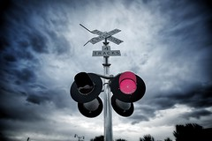 Crossing (janwellmann) Tags: railroad sign train crossing railroadcrossing redsign
