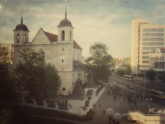 Minsk: Nemiga View (lemmingby) Tags: street city postprocessed building church architecture belarus minsk nemiga niamiha snapseed