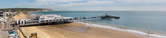 Sandown Pier Panorama (s0ulsurfing) Tags: uk sea england panorama english beach water canon skyscape island photography coast pier seaside spring sand britain shoreline panoramic coastal shore isleofwight april coastline british isle cloudporn englishchannel wight sandown lamanche 2013 beachculture sandownbay s0ulsurfing coastuk eastwight jasonswain