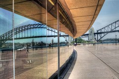 The Opera House & Bridge Reflection (AdamsWife UK holiday coming up soon) Tags: bridge windows reflection building window architecture sydney australia nsw newsouthwales operahouse 2012 sydneyharbourbridge eveparry