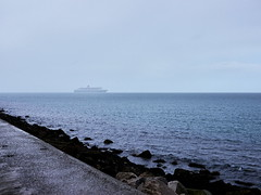 Queen Mary II in the distance (turgidson) Tags: ocean cruise ireland sea 2 dublin irish studio lens four lumix prime boat raw ship g mary line queen panasonic developer ii micro pro pancake 20mm qm2 luxury queenmary2 cunard asph transatlantic dmc dun thirds converter liner queenmaryii laoghaire flagship dunlaoghaire f17 m43 silkypix primelens gh2 41442 mirrorless lumixg microfourthirds 20mmf17 hh020 20mmf17asph panasonic20mmf17asph panasonicgh2 p1130629 panasoniclumixdmcgh2 silkypixdeveloperstudiopro41442