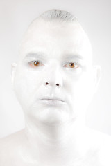 Cover Up (menickstephensorg) Tags: portrait white selfportrait face cover madness covered highkey discovery plain tone canonef2470mmf28lusm sanity selfaware selfawareness coveredup sudocreme canoneos5dmk2