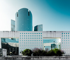 La Defense 4 (Philipp Gtze) Tags: sun paris glass architecture modern buildings office district ladefense