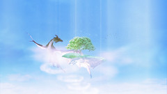 A Boy & His Dragon (jamaicanidler) Tags: boy sky art composite photoshop island design dragon floating