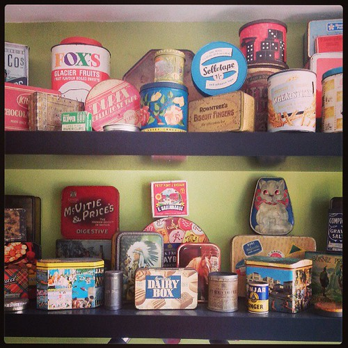 How many vintage tins does one girl need!  This is only some of my collection:)